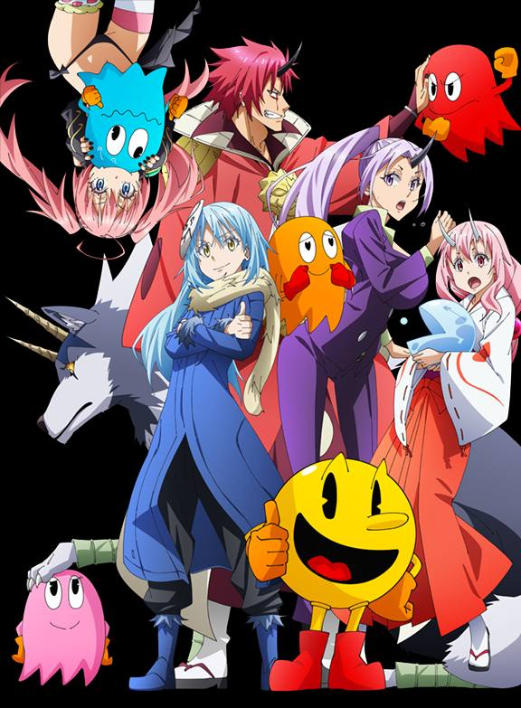That time I got reincarnated as a Slime X Pac-Man collaboration visual
